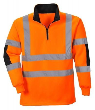 Bluza odblaskowa robocza ze wzmocnieniami niebrudzącymi B308 Portwest